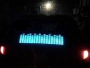 Электронный графический эквалайзер на заднее стекло 80*16