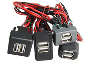 USB зарядное устройство встраиваемое в панель для Газелей NEXST,  Валдай,  ВАЗ. 3А